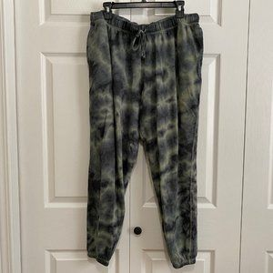 SO The Lounge Life Relaxed Jogger XL green tie-dye